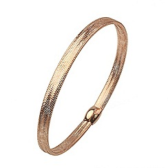 Aurium - Flexi 9 carat rose gold mesh braided bangle