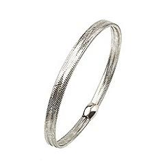 Aurium - Flexi 9 carat white gold mesh braided bangle