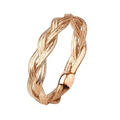 Aurium - Flexi 9 carat 3 row rose gold mesh braided bangle