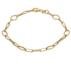Aurium - 9 carat yellow gold assorted open link bracelet