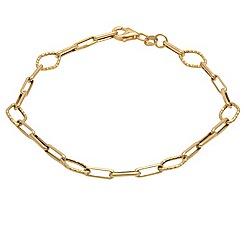 Aurium - 9 carat yellow gold assorted open link bracelet
