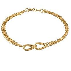 Aurium - 9 carat yellow gold multi strand link bracelet