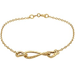 Aurium - 9 carat yellow gold 3 twin assorted link bracelet