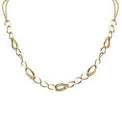 Aurium - 9 carat yellow gold twin and single link necklet