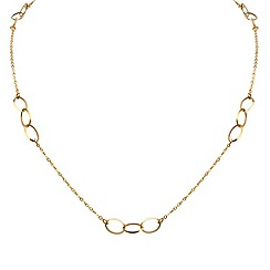 Aurium - 9 carat yellow open link and curb necklet