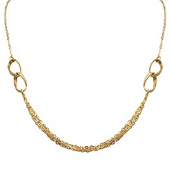 Aurium - 9 carat yellow gold multi strand open link necklet