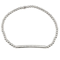 Aurium - Harlequin sterling silver stone set ball link bracelet