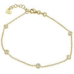 Aurium - Harlequin sterling silver yellow gold plated bracelet