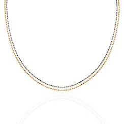 Aurium - Harlequin sterling silver 2 row multi colour 16 inch necklet