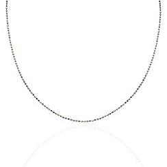 Aurium - Harlequin sterling silver ball link 20 inch necklet