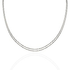 Aurium - Harlequin sterling silver ball link 2 row 16 inch necklet