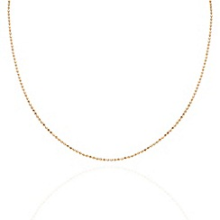 Aurium - Harlequin sterling silver yellow gold plated ball link 20 inch necklet