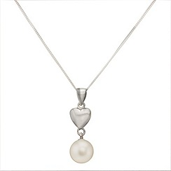 Aurium - Marco Polo sterling silver 8.0 -8.5 mm freshwater pearl pendant on chain