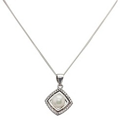 Aurium - Marco Polo sterling silver 6.5 -7.0 mm freshwater pearl pendant on chain
