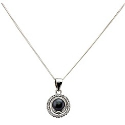 Aurium - Marco Polo sterling silver 5.5 -6.0 mm black freshwater pearl pendant on chain