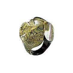 Murano 1291 - Rose Murano glass size l ring