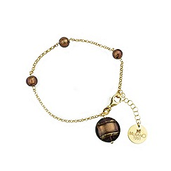 Murano 1291 - Ariel Murano glass bracelet on sterling silver gold plated chain