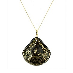 Murano 1291 - Shamare Murano glass pendant on sterling silver gold plated chain