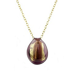 Murano 1291 - Ariel Murano glass pendant on sterling silver gold plated chain