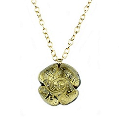 Murano 1291 - Rose Murano glass pendant on sterling silver gold plated chain