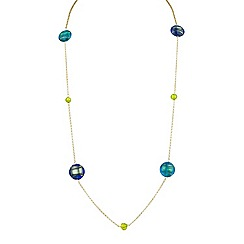 Murano 1291 - Ariel Murano glass necklet on sterling silver gold plated chain