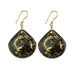 Murano 1291 - Shamare Murano glass earrings on sterling silver gold plated fittings