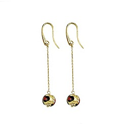 Murano 1291 - Miro Murano glass earrings on sterling silver gold plated fittings