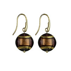 Murano 1291 - Ariel Murano glass earrings on sterling silver gold plated fittings