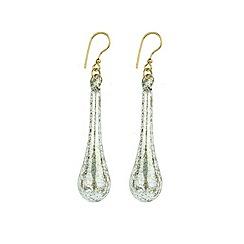 Murano 1291 - Teardrop Murano glass earrings on sterling silver gold plated fittings