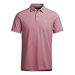 Jack & Jones - Burgundy 'Paulos' polo shirt