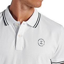 Jack & Jones - White tipped 'Thom' polo shirt