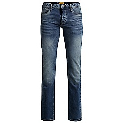 Jack & Jones - Dark wash straight fit denim jean