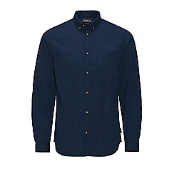 Jack & Jones - Navy 'Gavin' long sleeve shirt