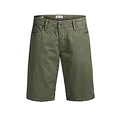 Jack & Jones - Olive 'Rick' chino shorts