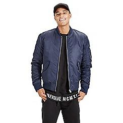 Jack & Jones - Navy 'Porten' bomber jacket
