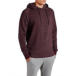 Jack & Jones - Burgundy pull over 'Win' sweat hood top