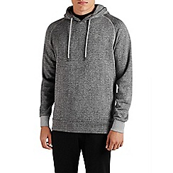 Jack & Jones - Light grey pull over 'Win' sweat hood top