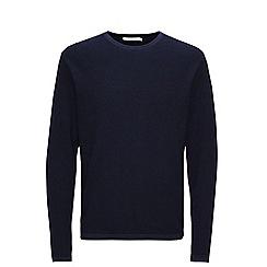 Jack & Jones - Navy 'Steve' crew neck knitted jumper