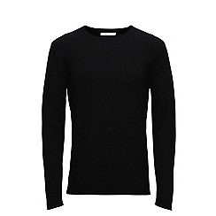 Jack & Jones - Black 'Steve' crew neck knitted jumper