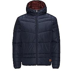 Jack & Jones - Navy shower-proof puffer jacket