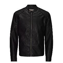 Jack & Jones - Black PU biker jacket