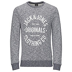 Jack & Jones - Navy 'Clemens' sweat crew hood top