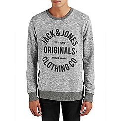 Jack & Jones - Light grey 'Clemens' sweat crew top