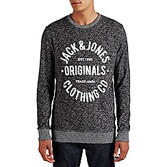 Jack & Jones - Dark grey 'Clemens' sweat crew top