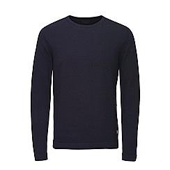 Jack & Jones - Navy basic crew neck knitted jumper