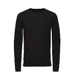 Jack & Jones - Black basic crew neck knitted jumper