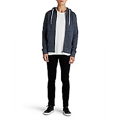Jack & Jones - Navy zip up 'Storm' sweat hood top