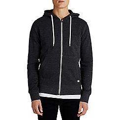 Jack & Jones - Black zip up 'Storm' sweat hood top