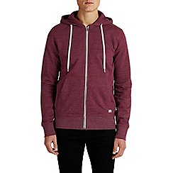 Jack & Jones - Red zip up 'Storm' sweat hood top