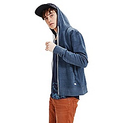 Jack & Jones - Dark denim 'Storm' zip up sweat hood top